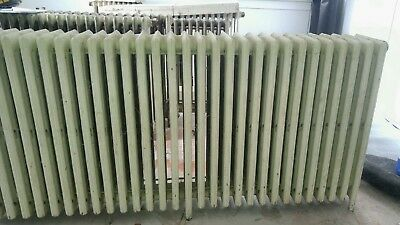 6 Six Antique Vintage Hot Water Steam Home Heating House Radiator Lot