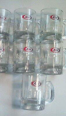 A&W Root beer shot glass small Mug lot of 7