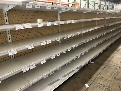LOZIER Gondola Store Shelving 4' Section [NO SHIPPING/PICK UP ONLY] Barely used