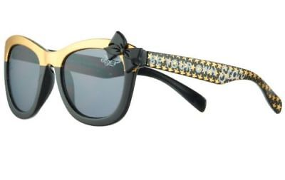 """New Jojo Siwa """"Be Your Own Star"""" Bow Sunglasses Black/Gold"""