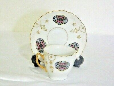 Vintage Beautiful Japanese 24 Kt Gold Pl Porcelain Cup And Saucer