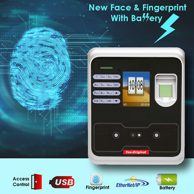 BioMetric Time Clock with Face and Finger Recognition, or Pin Access And Battery