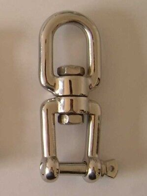 Chain Swivel 8mm Eye / Jaw 316 Stainless Steel ideal for sea anchor drouge NEW