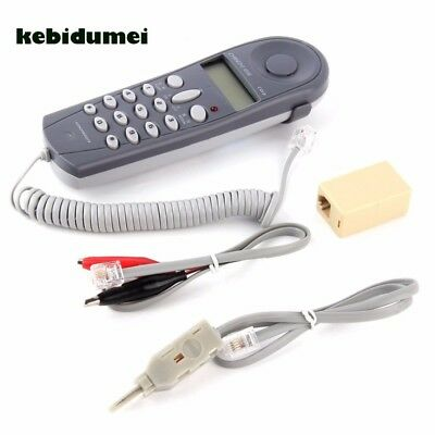 Telephone Phone Butt Test Tester Lineman Tool Network Tester Cable for Telephone