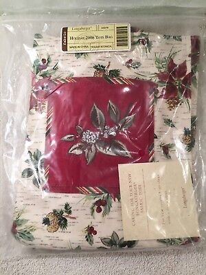 Longaberger 2006 Holiday Christmas Tote Bag Purse Etc Etc NEW IN BAG
