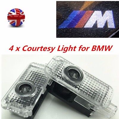 4 CREE LED Door For BMW M Projector Courtesy Puddle Shadow Laser Light Lamp Logo