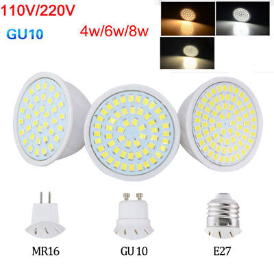 MR16 GU10 E27 LED Bulb Spotlight 4W 6W 8W 2835 SMD Decor Lampadine 110V 220V