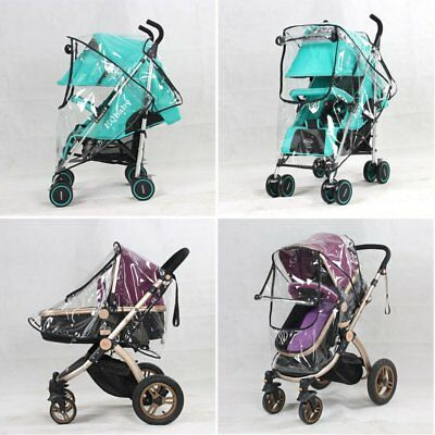 Universal Clear Rain Cover Raincover Protector For Pushchair Pram Stroller Buggy