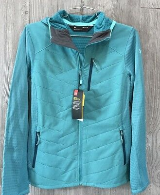 Under Armour Womens SM RUNNING JACKET WORK OUT Teal 1315069 NWT 2018