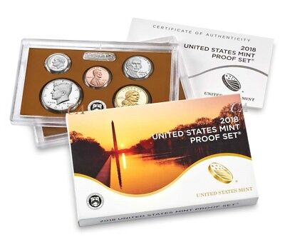 In Stock 2018-S U.S. Mint Proof 10-Coin Set GEM Proof OGP