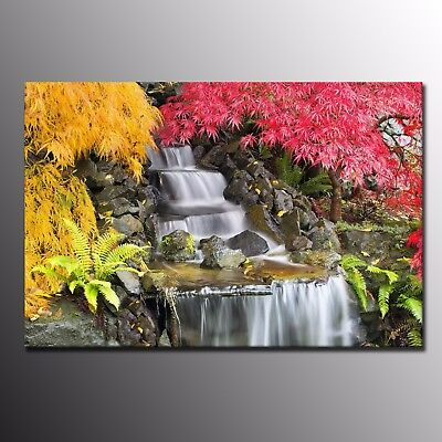 HD Canvas Print for Home Decor Small Waterfall Wall Art Canvas Painting Flowers