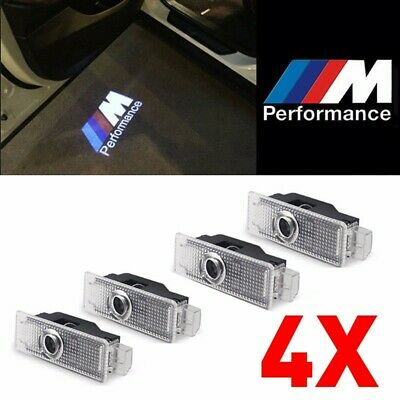 4X LED Car Door Courtesy Laser Projector Logo Shadow Light For BMW M PERFORMANCE
