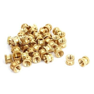 M3 x 4mm x 5mm Bushing Threaded Brass Fluted Insert Bound Nuts 40 pcs. L9A7