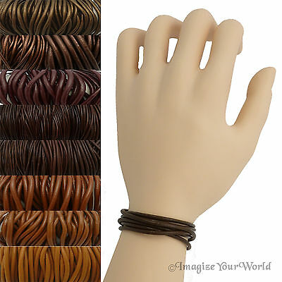 879eed236646 Brown Leather Cord Wrap Bracelet Custom Length to 72 inches Handmade US  necklace