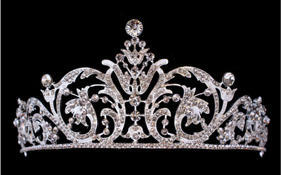 Bridal Crown Bridal Tiara Silver Wedding Tiara Swarovski Crystal Crown Tiara Bri
