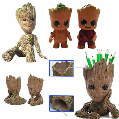 AU Guardians of the Galaxy Baby Groot Figure Figurine Flowerpot Pen Pot Doll Toy