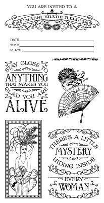 GRAPHIC 45 Midnight Masquerade Cling Stamp 2*Stamping Stamp Sets Card making