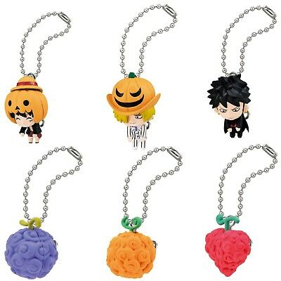 One Piece Mascot Swing PVC Keychain Figure Luffy Law Sanji Devil Fruit ND18057