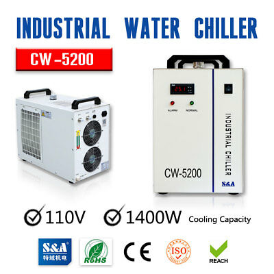 USA S&A 110V CW-5200DG Industrial Water Coolerfor 130W / 150W CO2 Laser Tube NEW
