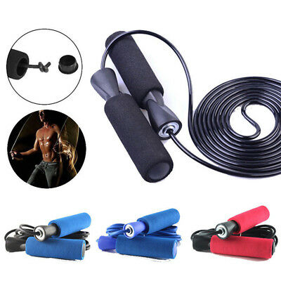 AU Aerobic Exercise Boxing Skipping Jump Rope Adjustable Bearing Speed Fitness