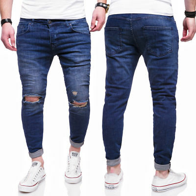 BEHYPE Men/'s Jeans Pants Destroyed and Ripped Knees RJ-2021
