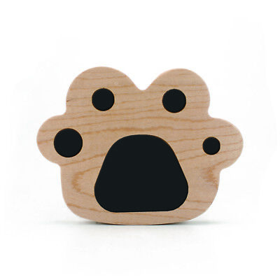 For iPhone X 8 Plus Wood Cat Paw Wireless Fast Charger Charging Stand Dock Pad
