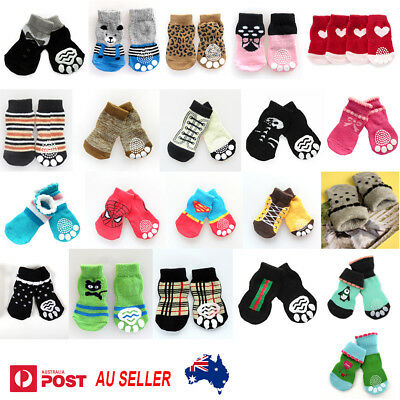 Dog Socks Non-Slip Grip Slip Anti-Skid S M L XL  - Puppy Cat Pet Shoes Slippers