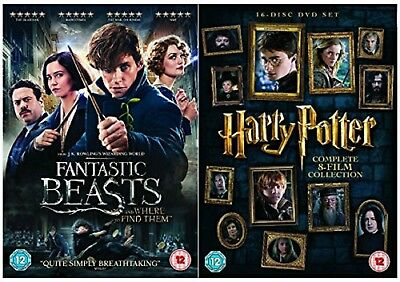 Fantastic Beasts And Where To Find Them + Harry Potter Collection Dvd Uk New