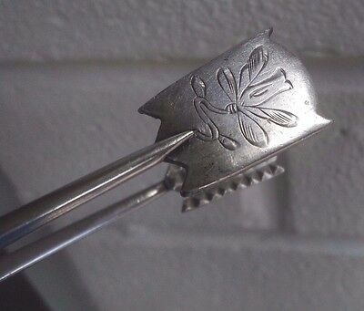 Russian Silver Sugar Tongs Kokoshnik Mark 1899/1908 - Art Nouveau Dragonfly