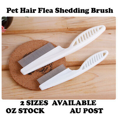 Pet Hair Grooming Comb Flea Shedding Brush Cat Dog Stainless Cleaning Trimmer