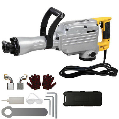 1850W Electric Demolition Jack Hammer Concrete Breaker Drill Chisel Tool Kit