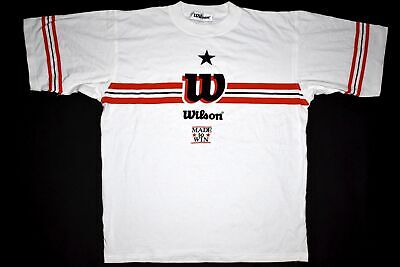 Wilson T-Shirt TShirt Tennis Made to WIN Vintage Deadstock 80s 90s 90er S NEU NE