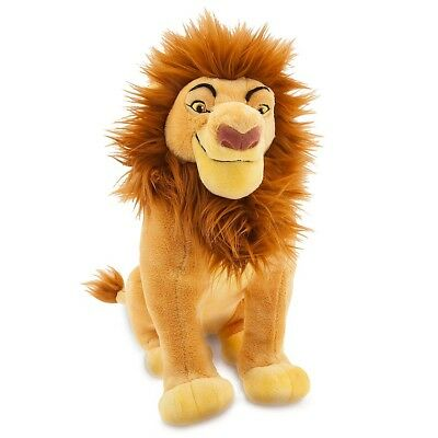 "Disney Store Lion King Mufasa Plush Soft Toy 14"" Simba BNWT"