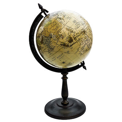 Unidecor Nautical Vintage Handmade Spinning World Globe On Wooden Stand
