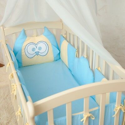 Crib Per Cot Bedding 8 Pcs Pads Toddler Bed Baby Boy Breathable Nursery