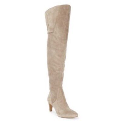 e8d18af2abb NEW Vince Camuto Suede Armaceli Tan Beige Over The Knee Tall Boot Women  6.5- 7.5