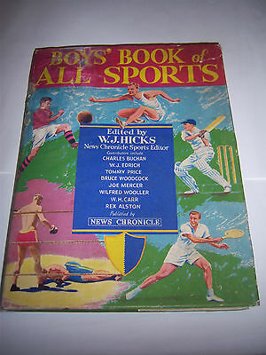 Boys' Book Of All Sports 1949/50 - #1 - Arsenal / Middlesex - Football / Cricket