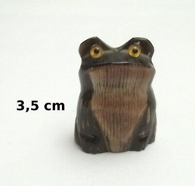 superbe grenouille, figurine miniature de collection ,frog,kikker  Gtp14-19
