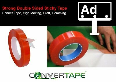 Cinta Adhesiva de Doble Cara Fuerte Cartel Hemming Arte Diy Signmaking-12mm