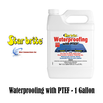 Fabric Waterproofing Protectant w/PTEF Marine Boat Cover Canvas Tent 1 Gallon