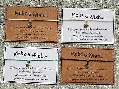 Wholesale * Job Lot * Bulk * Make a Wish Wishes * Wish Bracelet * Friendship *