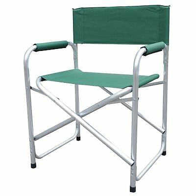 NNEW Aluminium & Canvas Directors Garden Camping Chair Free Post