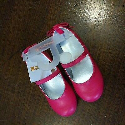 NWT Gymboree Outlet Flower Shower Pink Bow Ballet Flats Size 9 10 Girls Shoes