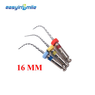 EASYINSMILE Dental NITI Endo Immature Files for Child 16 MM Assorted 3 files/pk