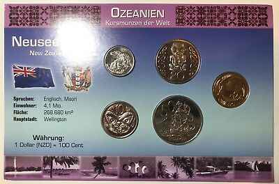 2004 NZ/German tourist set with MULE 10c/$1 error coin and 5c error coin