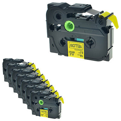 8 PK TZ-641 Black on Yellow Label Tape For Brother P-Touch PT-1830 2730 TZe-641