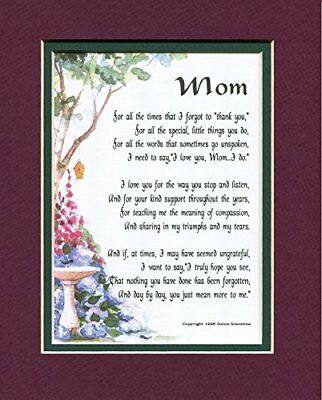 Mom A Mother's Day Present Poem Birthday Gift For A Mother. #03, More Color
