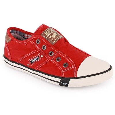 New Mustang 5803-405-5 Kids Loafers Trainers Red Sz- 1 EU 33 RRP-£50.00