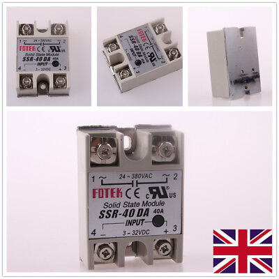DC-AC Solid State Relay SSR-40DA Output AC 24-380V 1-10Pcs UK Shipping