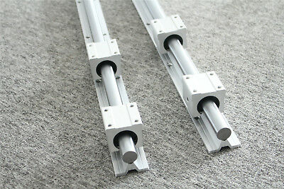 2Pcs SBR25 Fully Supported Linear Rail L500-1500mm with 4Pcs SBR25UU Bearing